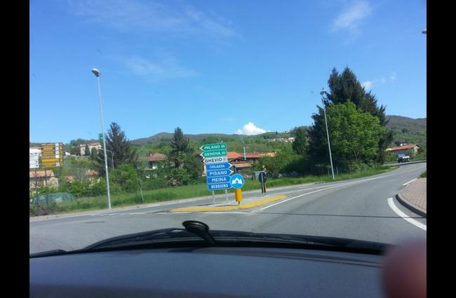 Once passed the roundabout you will be turning right towards Arona, Meina